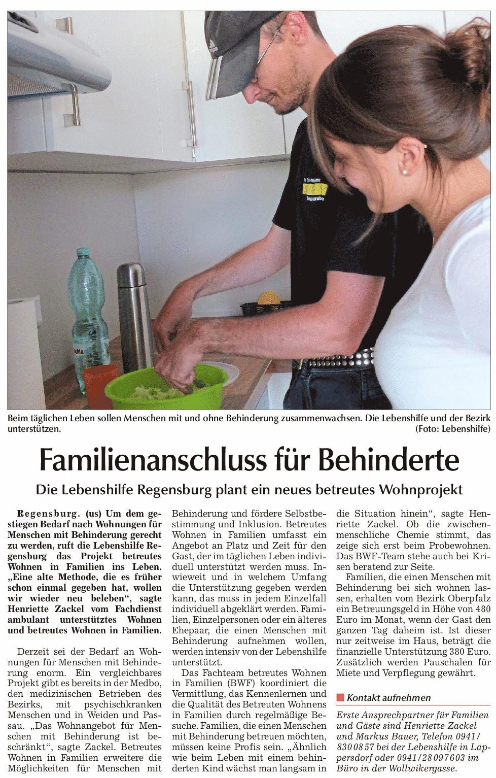 betreutes wohnen in familien lebenshilfe regensburg. Black Bedroom Furniture Sets. Home Design Ideas